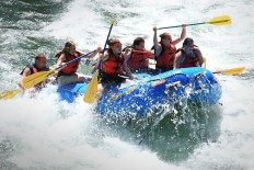 White water rafting on Snake River