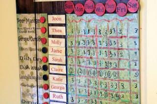Pine Canyon chore chart